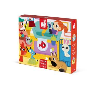 Zwierzęta Domowe - Puzzle Sensoryczne - 20 Elementów - Janod