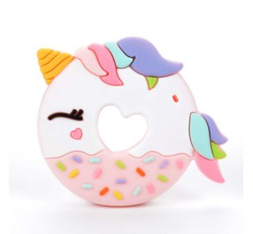 WYPRZEDAŻ Jednorożec Donut - gryzak silikonowy - LouLou Lollipop