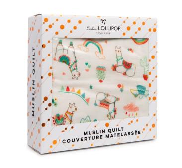 WYPRZEDAŻ Kołderka Muślinowa - Llama - LouLou Lollipop