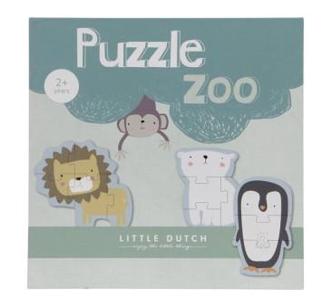 ZOO - Puzzle - 6 elementów- Little Dutch