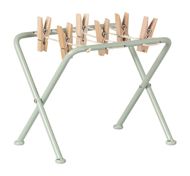 Suszarka Do Ubrań - Drying Rack With Pegs - Akcesoria dla Lalek - Maileg