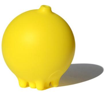 Piłka do kąpieli plui - kolor żółty