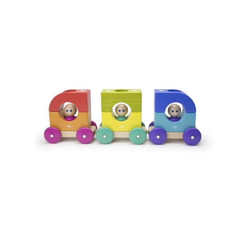 Magnetyczny Tramwaj - Baby and Toddler - Tram - Drewniane Klocki Magnetyczne - Tegu