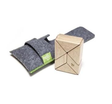 NATURAL - Prism - 6szt - Drewniane Klocki Magnetyczne - Tegu