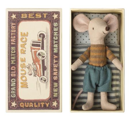 Myszka Starszy Brat- Bluzeczka W Miodowe Paski - W Pudełeczku - Big Brother - Mouse in Box - Maileg