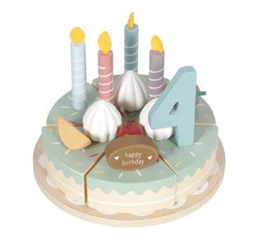 Duży Drewniany Torcik Urodzinowy- Little Dutch - Tort na Urodziny