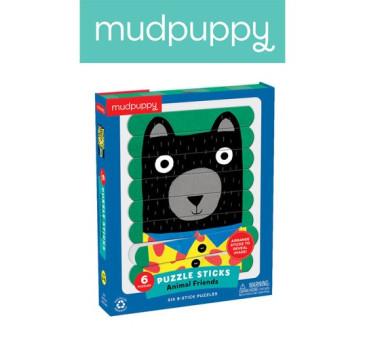 ZWIERZĘCY PRZYJACIELE - Puzzle Patyczki - 24 Elementy - Mudpuppy