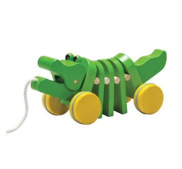 Zielony - Krokodyl Do Ciągnięcia - Plan Toys - Montessori