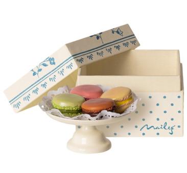 Patera Z Makaronikami - Macarons Et Chocolat Chaud - Akcesoria dla Lalek - Maileg