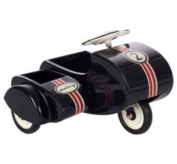 Czarny Skuter - Black Scooter With Sidecar Metal - Maileg