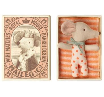 Myszka Dzidziuś Dziewczynka - Sleepy Wakey In Box - Baby Mouse - Maileg