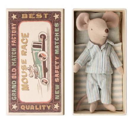Myszka Starszy Brat - W Piżamie - W Pudełeczku - Big Brother - Mouse in Box - Maileg