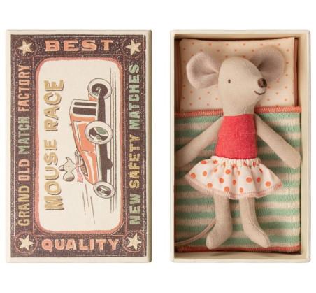 Myszka Młodsza Siostra w Spódniczce w Kropki - Little Sister Mouse In Box- Maileg