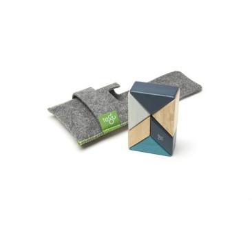 BLUES - Prism - 6szt - Drewniane Klocki Magnetyczne - Tegu