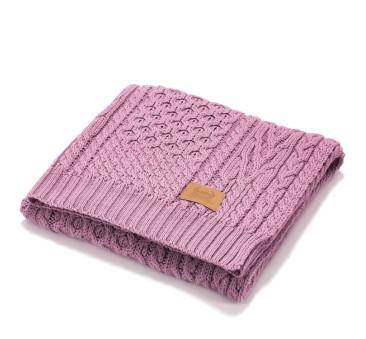 French Love - Koc z Wełny Merynosa - Różowy - Merino Wool - 85x85 - 50% Wełna Merino - La Millou