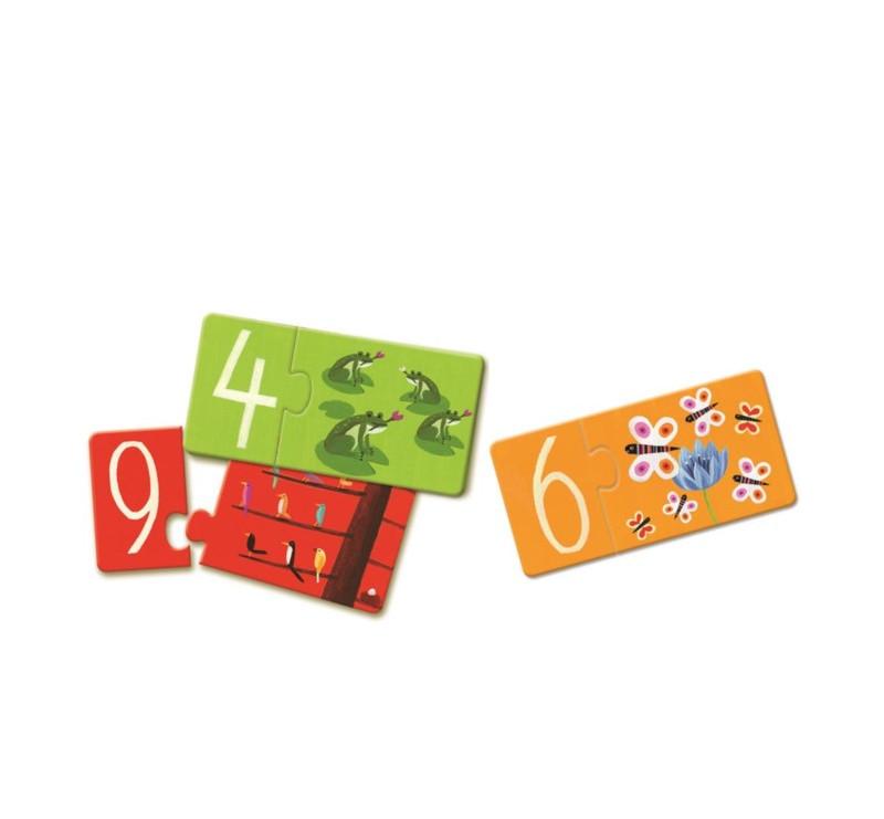 Łączenie Liczb i Liter - Puzzle - Djeco