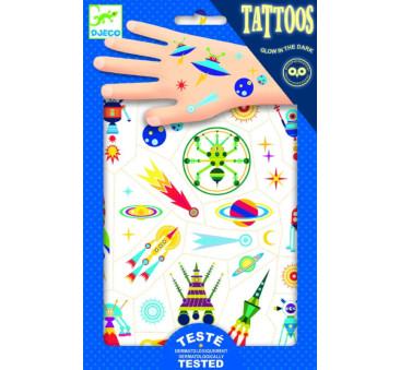 KOSMOS - tatuaże świecące w ciemności - Djeco