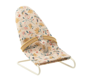 Leżaczek - w Kwiatki - Miodowy Pałąk - Babysitter Micro - Akcesoria dla Lalek - Maileg