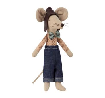 Myszka Tata z Muszką - Dad Racer Mouse - Maileg