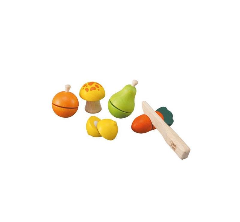 Warzywa i Owoce Do Krojenia - Plan Toys - Montessori