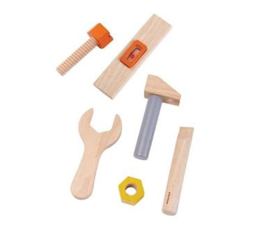 Pas z Drewnianymi Narzędziemi - Plan Toys - Montessori