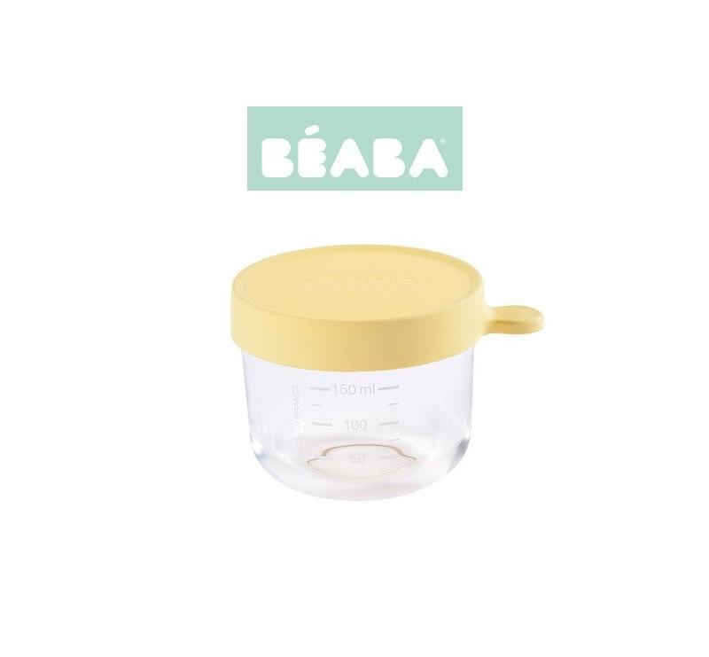 Pojemnik Szklany z Hermetycznym Zamknięciem 150 ml - Yellow - Beaba