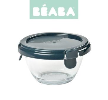 Dark Blue - Pojemnik Szklany z Hermetycznym Zamknięciem 200 ml - Pyrex - Beaba