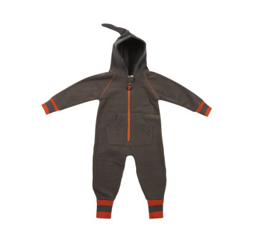Grey/Orange - Fleece Suit - 86-92 - Kombinezon Polarowy - Ducksday
