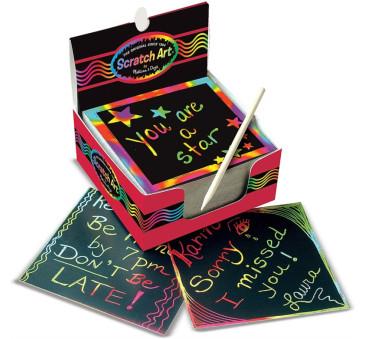 Mini Zdrapki Holograficzne Kolorowe - Wydrapywanki - w pudełku - Melissa & Doug