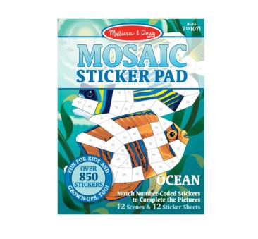 Ocean - Mozaika Do Wyklejania - Melissa & Doug - Naklejki Wielokrotnego Użytku