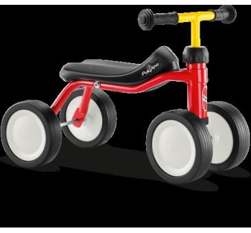 Jeździk Dla Dzieci Red/Czerwony - Białe Koła - PukyLino