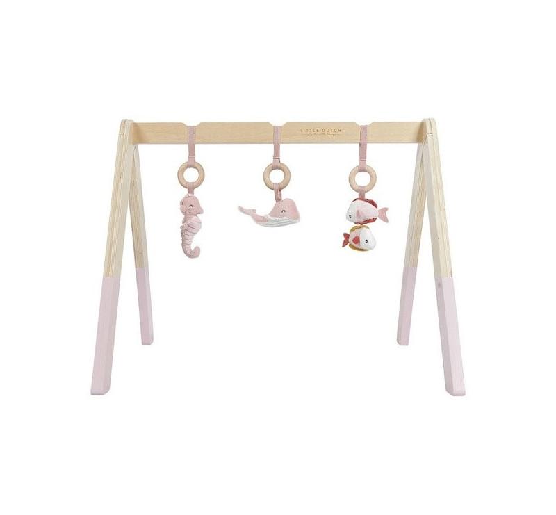 Pałąk Interaktywny - Baby Gym - Różowy - Ocean - Little Dutch
