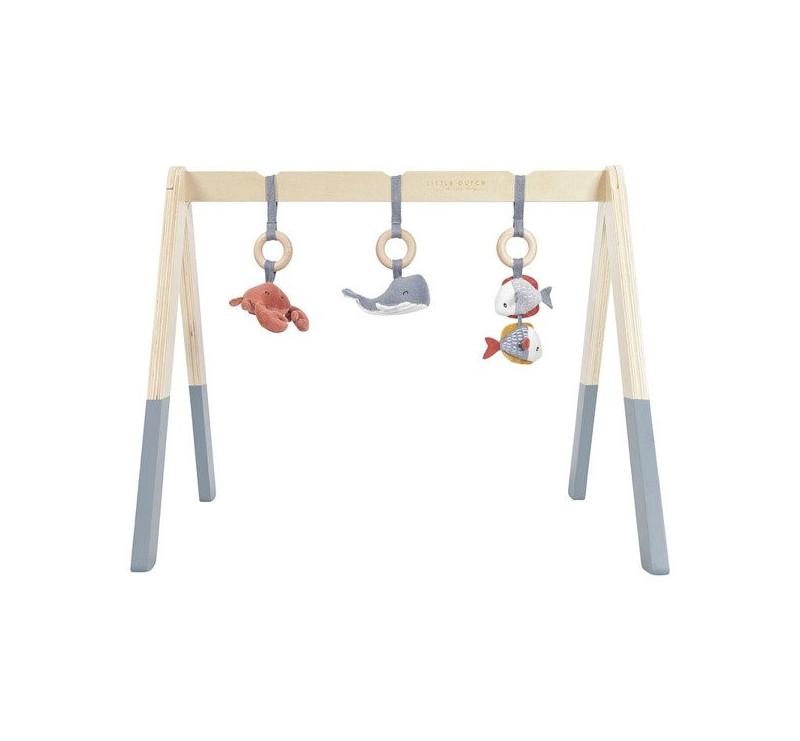 Pałąk Interaktywny - Baby Gym - Błękit - Ocean - Little Dutch