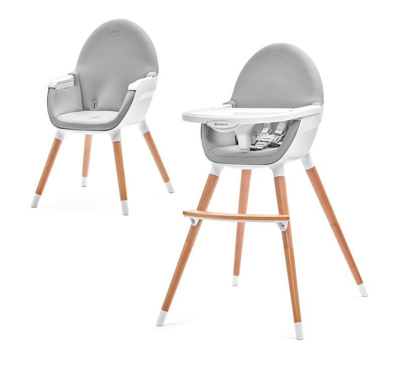 Krzesełko do karmienia 2w1 FINI- gray - Kinderkraft