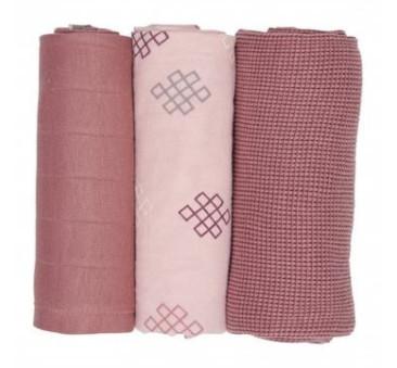 Sensitive/Knot/Plush - 70x70 cm - Otulacze Pieluszki 3-pack - Swaddler Epire - Muślin - Lodger