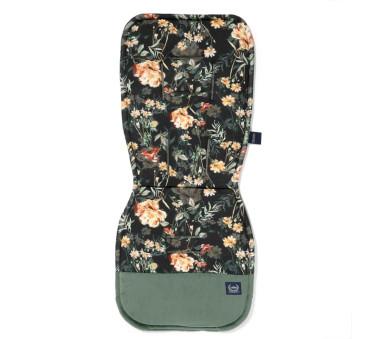Blooming Boutique Noir & Velvet Khaki - Wkładka do wózka - Stroller Pad - La Millou - Organic Jersey Collection
