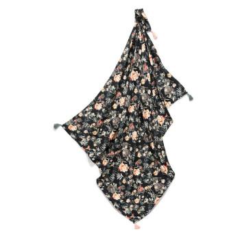 Bambusowy Otulacz - Blooming Boutique Noir - Mgiełka - La Millou - Bamboo Fringe 110x140 - King Size