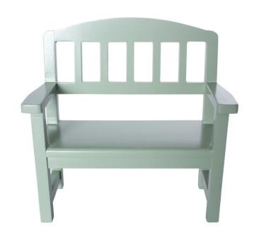 Zielona Drewniana Ławka - Wooden Bench Green - Akcesoria dla Lalek - Maileg