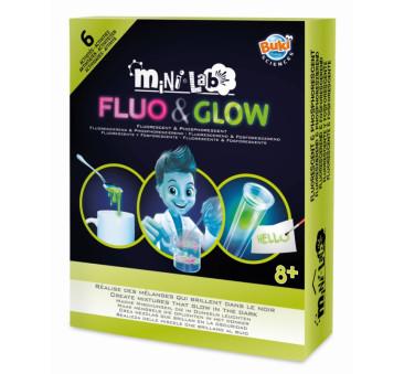 Mini Lab - FLUO&GLOW - Eksperymenty Świecące W Ciemności - BUKI