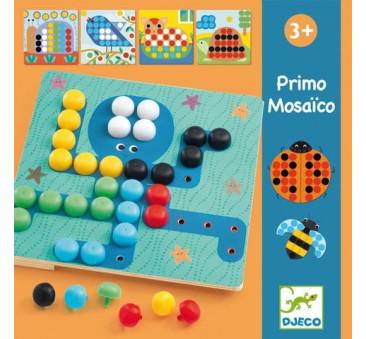 Primo Mozaika - Kolorowe Obrazki - Kolorowe Pinezki - Djeco