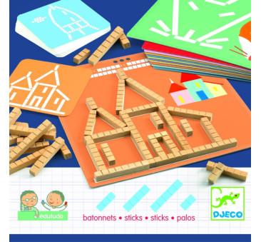 Eduludo - PATYCZKI - Nauka Odwzorowywania - Djeco
