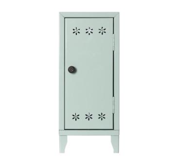 Metalowa Szafa Z Wieszaczkami - Miętowa - Locker with 3 Hangers Green - Akcesoria dla Lalek - Maileg