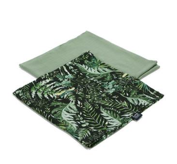 Botanical & Khaki - Pieluszka 100 % Bamboo Muślin - 2 pack - La Millou