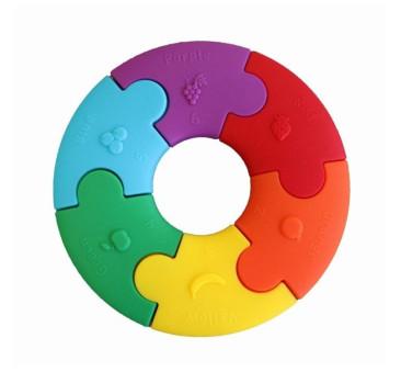 Tęczowe Kółko - Pierwsze Puzzle Sensoryczne - Jellystone Designs