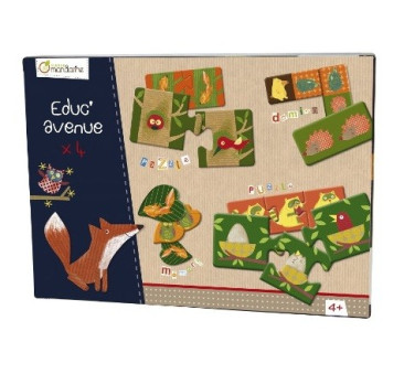 Zestaw edukacyjny Las - domino memo puzzle