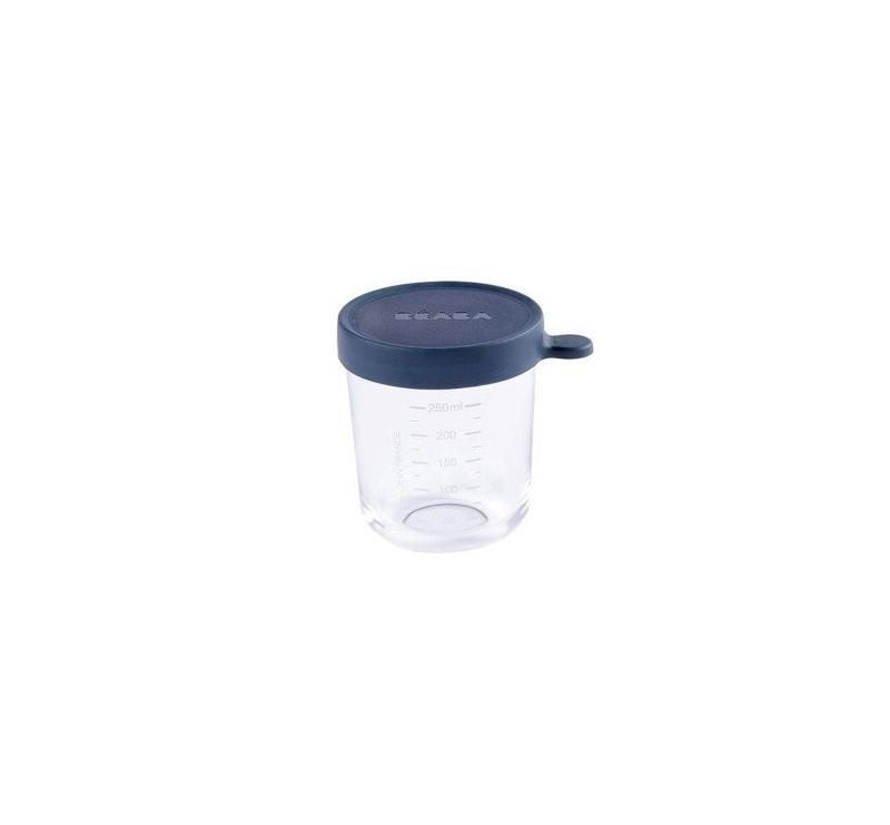 Pojemnik Szklany z Hermetycznym Zamknięciem 250 ml - Dark Blue - Beaba