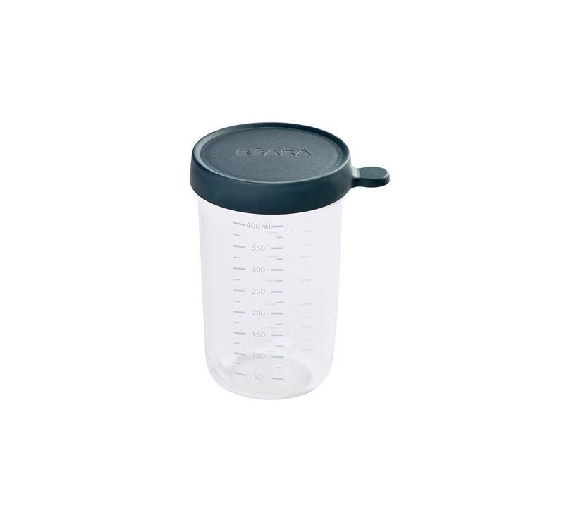 Dark Blue - Pojemnik Szklany z Hermetycznym Zamknięciem 400 ml - Pyrex - Beaba