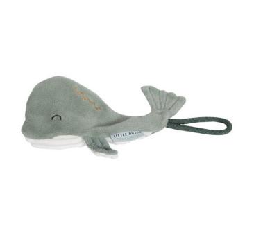 Ocean Mięta - Zawieszka Do Smoczka Wieloryb - Little Dutch