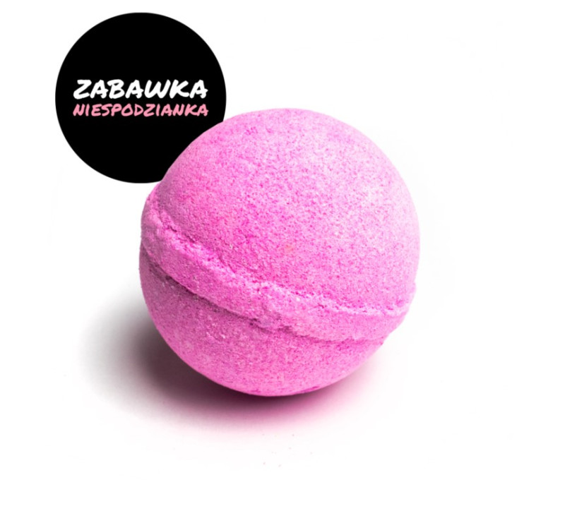 Różowa - Kulka Musująca Do Kąpieli - Melon - MINI-U