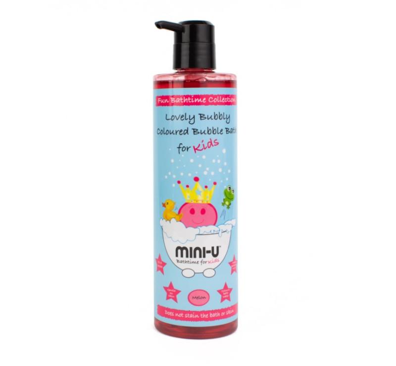 Różowy - Płyn Do Kąpieli Z Bąbelkami - 500 ml - Melon - MINI-U